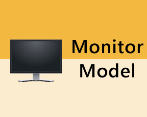 Identify monitor model windows 10